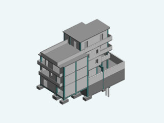 Edificio intelaiato in C.A